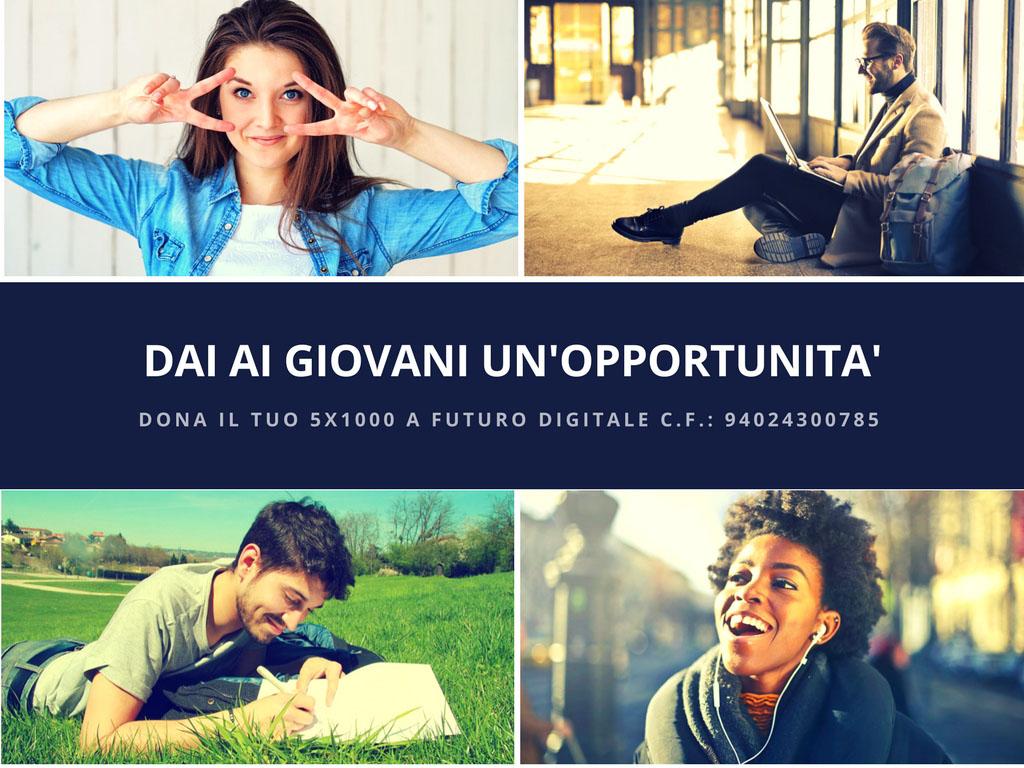 Dai ai giovani un'opportunità Futuro Digitale Sito Web